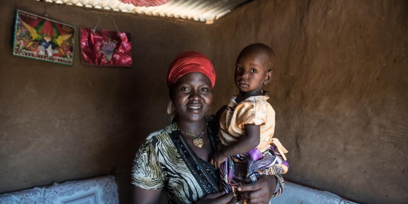 Everline, 25, East Pokot, Kenya, picture with her daughter. Credit: Jennifer Huxta/ActionAid