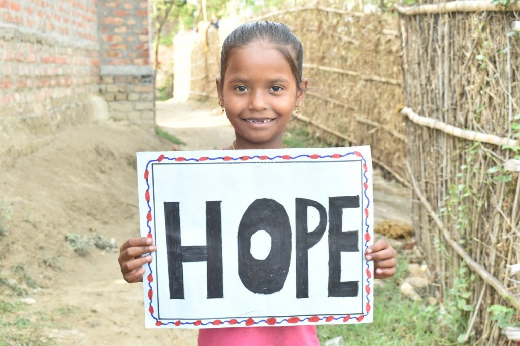 Samjana (7), a Sponsored Child in Nepal. Photo credit: Bahadur Sadaya and Ramlal Chaudhary/ActionAid Nepal